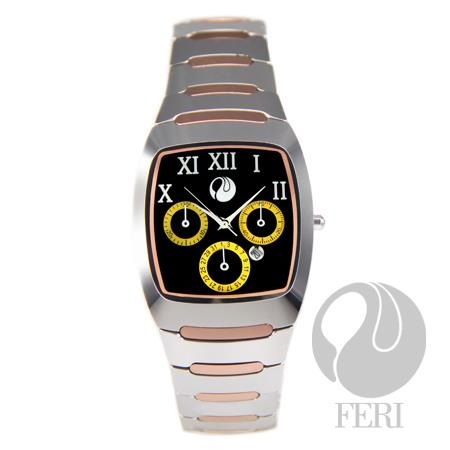 Feri Steele Timepiece - Tungsten from the 2012 Collection.  Very unique and scratch resistant with a 3 year warranty!