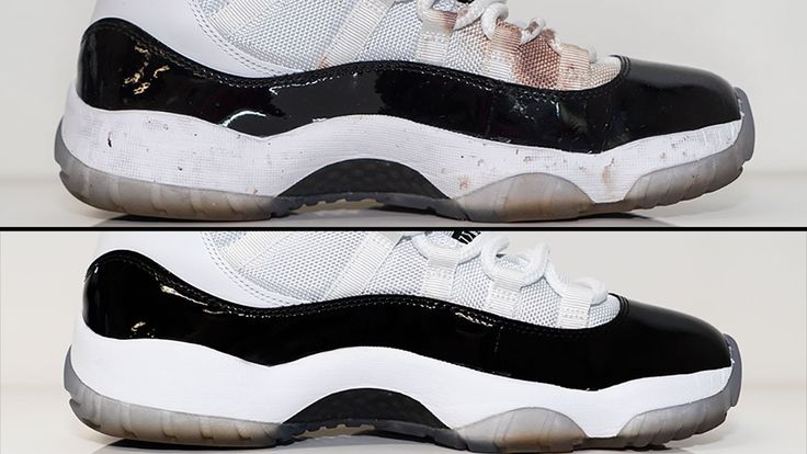 Air Jordan 11 Concord - How to deep clean stained White mesh