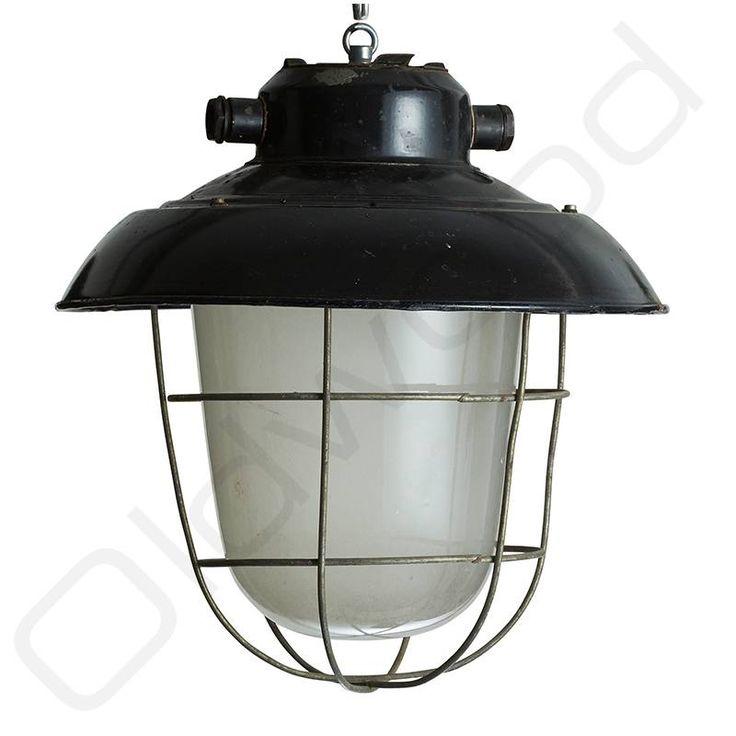 Industriële lampen - glas en korf 79+ 59 e