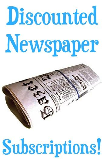 Discounted Newspaper Subscriptions!