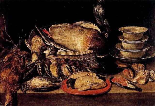 Clara Peeters (1594-ca 1657)-'still life (table with chicken)'-oil on canvas   Madrid-Museo del Prado
