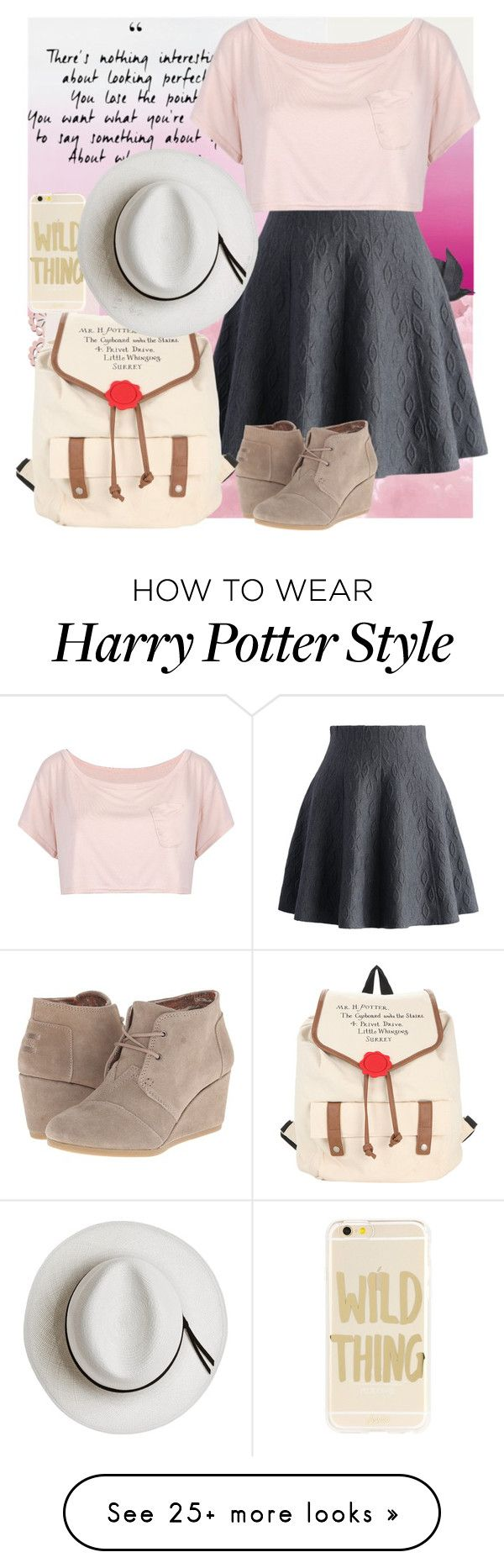 """""""I wanna make you mine, but that's hard to say"""" by c-hood on Polyvore featuring Jayson Home, Chicwish, WithChic, TOMS, Sonix and Calypso Private Label"""