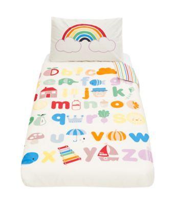 Little Bird Cot Bed Duvet and Pillow