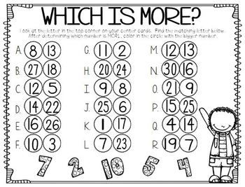 First Grade Math Unit 11 Comparing Numbers Skip Counting and ...