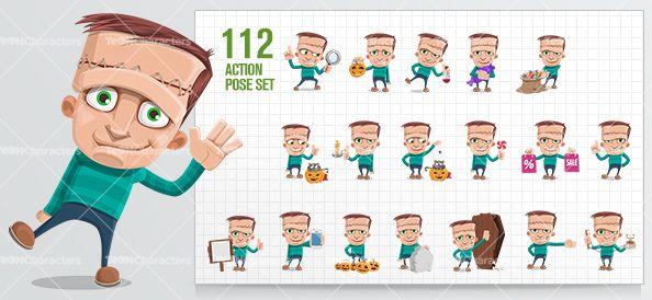 frankenstein kid Cartoon Character - ToonCharacters