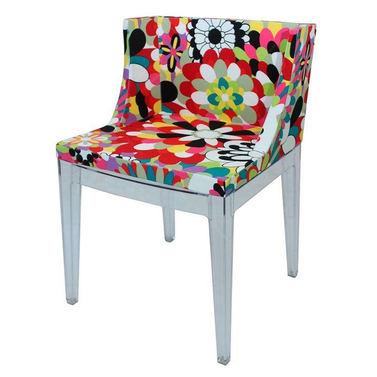 Cadeira Mademoiselle com Base em Policarbonato - 52x75 cm