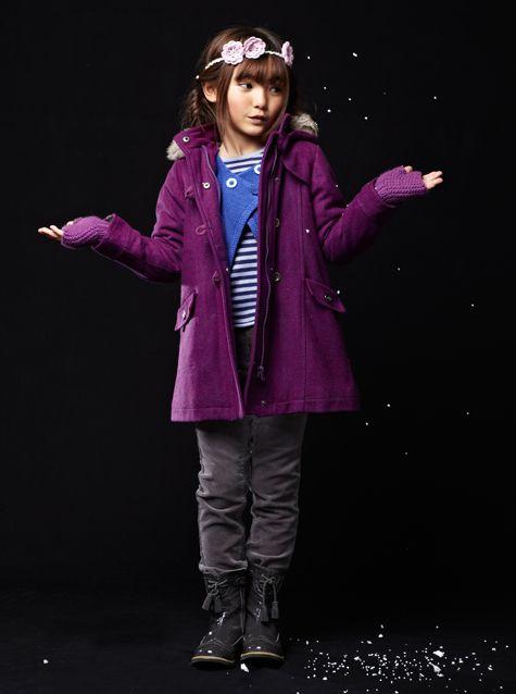 #Manteau en drap de #laine - Collection automne hiver 2013 - www.vertbaudet.fr
