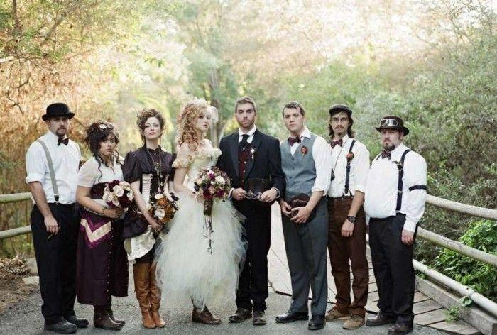 Mariage originale au thème d'Alice de Disney robe de mariée