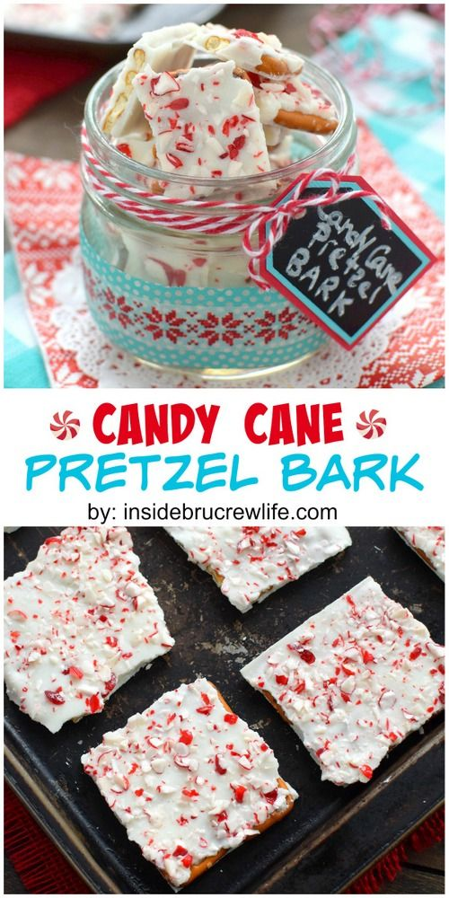 This easy holiday bark can be made in less than 10 minutes.  It's the perfect treat to make for fun gift packages.