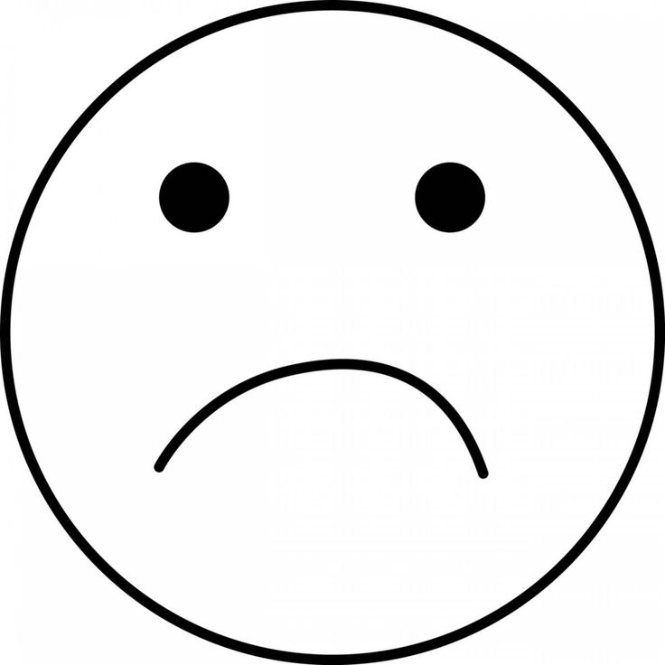 Sad Face Coloring Page for kids