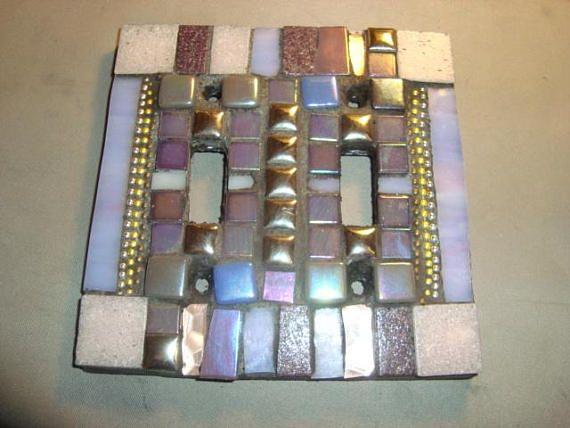 MOSAIC LIGHT SWITCH Plate Double Wall Art Wall Plate