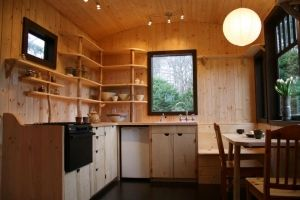 tiny house kitchen by geisharobot