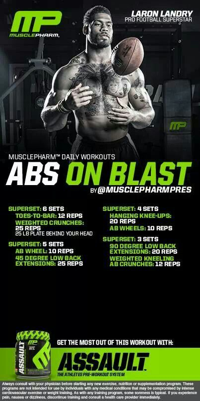 MUSCLE GAINS: Muscle Pharm Ab on Blast workout
