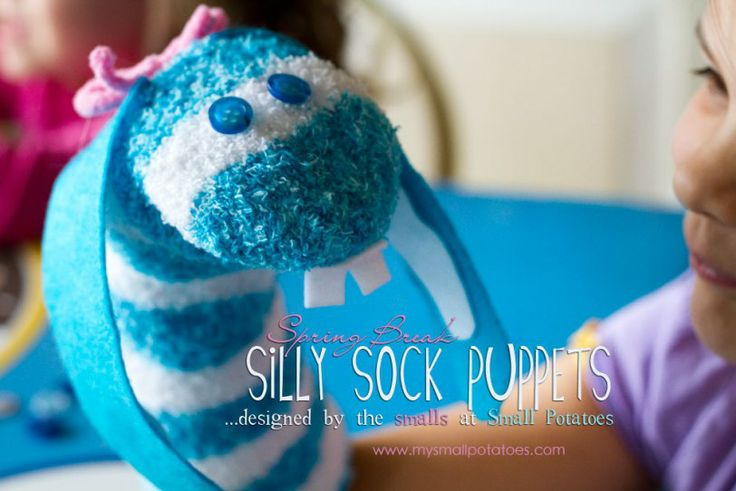 DYI - silly sock puppets