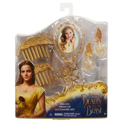 Disney Beauty and the Beast Belle's Dress Up Accessory Set, Adult Unisex, Pink