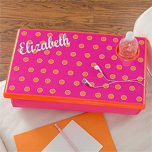 Girls Personalized Lap Desk - Pink & Orange - 11401 | Personalized gifts for kids, Personalised ...
