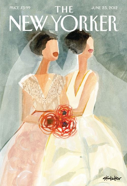 Lovely cover of The New Yorker, June 2012. Illustration created by Gayle Kabaker.