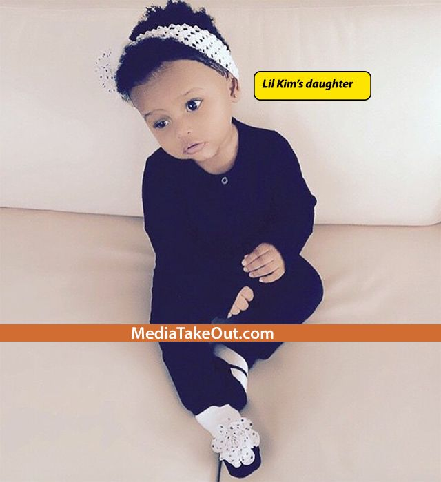 AWWWWWW . . . Look How CUTE Lil Kim's Baby Is NOW . . . Lil Mama Got Her Hair ALL DONE UP . . . Like JANELLE MONAE!!!