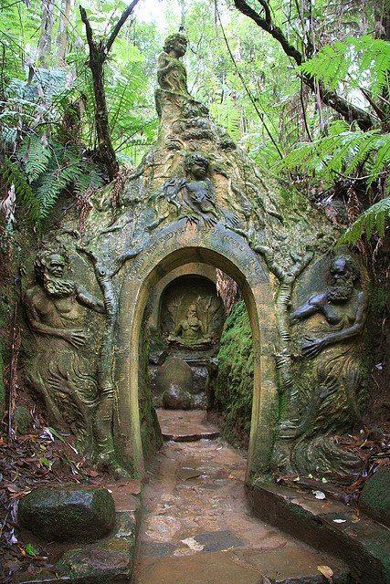 ARCHITECTURE – William Ricketts Sanctuary, Mount Dandenong, Australia photo via shelley