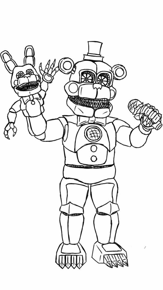 Nightmare Funtime Freddy By Ooblekofficial On Deviantart In 2020 Fnaf Coloring Pages Coloring Pages Coloring Books