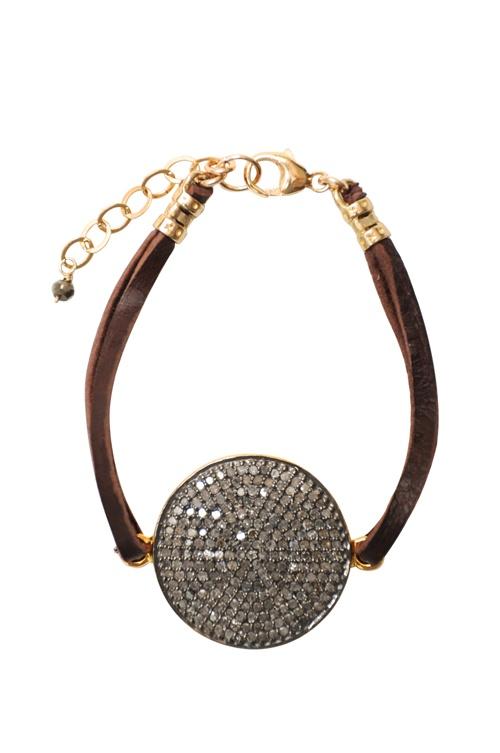 Sundial Black Diamond Bracelet  $780.00
