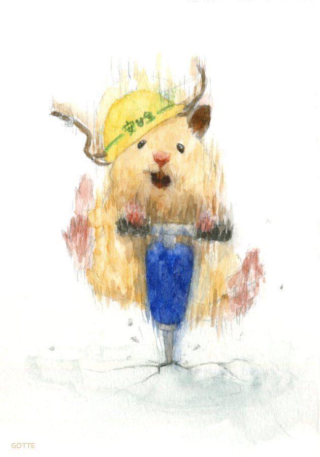 gotte ハムスター画家 ap hamham ハムスター 絵 キュートなアート かわいい動物の絵