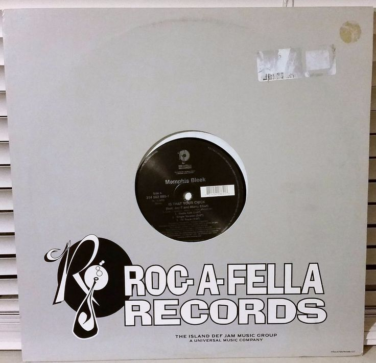 Roc-A-Fella Records Memphis Bleek Is That Your Chick Vinyl Record Missy Elliot