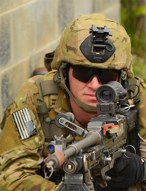 Ranger M240 machine gun