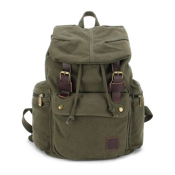 Canvas knapsack backpack, best laptop backpack (130 CAD) ❤ liked on Polyvore featuring bags, backpacks, canvas laptop bag, backpack laptop bag, laptop backpack, day pack backpack and canvas backpack