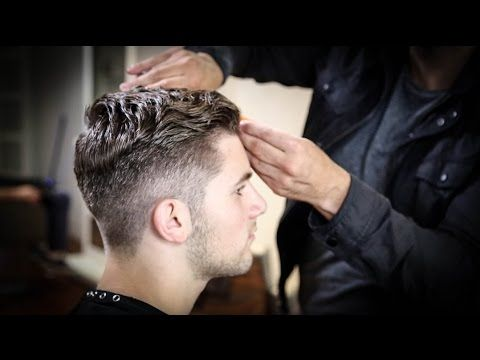 College Haircut For Guys | Thick Wavy Combed Back Haircut Tutorial | MATT BECK VLOG 63 - YouTube