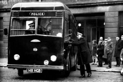 Howard's way led killer to prison IN THE dim and distant days before the Government flogged off prisoner transport to the private sector, most thugs got their last glimpse of freedom from the back of a 'Black Maria'. The passenger in the one above was bank robber and police killer Howard Wilson. In 1969, Wilson, a former Glasgow cop, recruited another disillusioned ex-officer and a car mechanic to rob the Clydesdale Bank in Linwood. The gang got away with £14,000, but were spotted unloading…