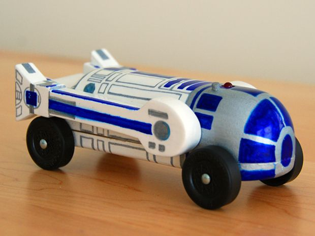 25 awesome Star Wars-themed pinewood derby cars - ideas on how to paint your pinecar