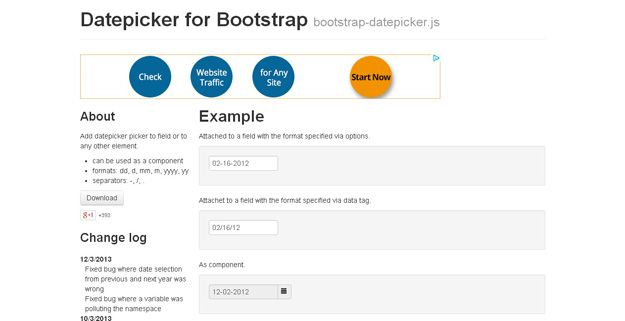Datepicker for Bootstrap - Start with years viewMode