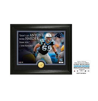 "NFL® Carolina Panthers Luke Keuchly ""Quote"" Silver Coin Photo Mint by The Highland Mint"