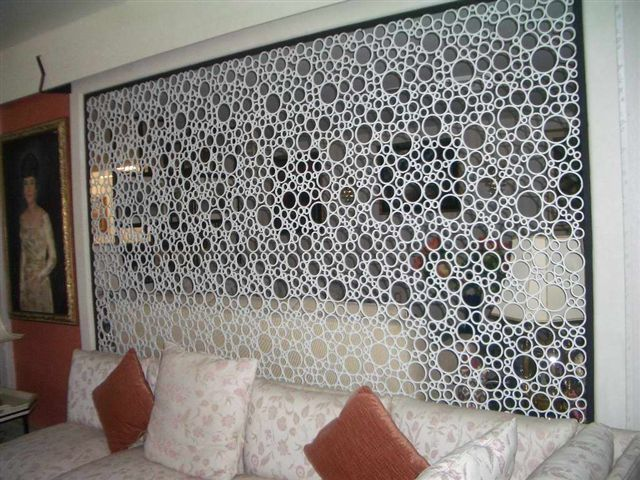 Lattice made from pvc pipe.  Might be fun to DIY.