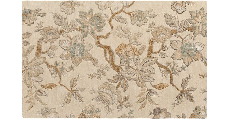 Crafted of wool and cotton with silky viscose highlights, this rug features a beautifully carved botanical design on a neutral-hued ground. We recommend a rug pad to extend the life of your rug and...