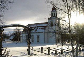 Tännäs Kyrka – Sveriges högst belägna kyrka, 648 m.ö.h #bröllop #tännäs #tännäskröket #funäsfjällen #sweden #wedding