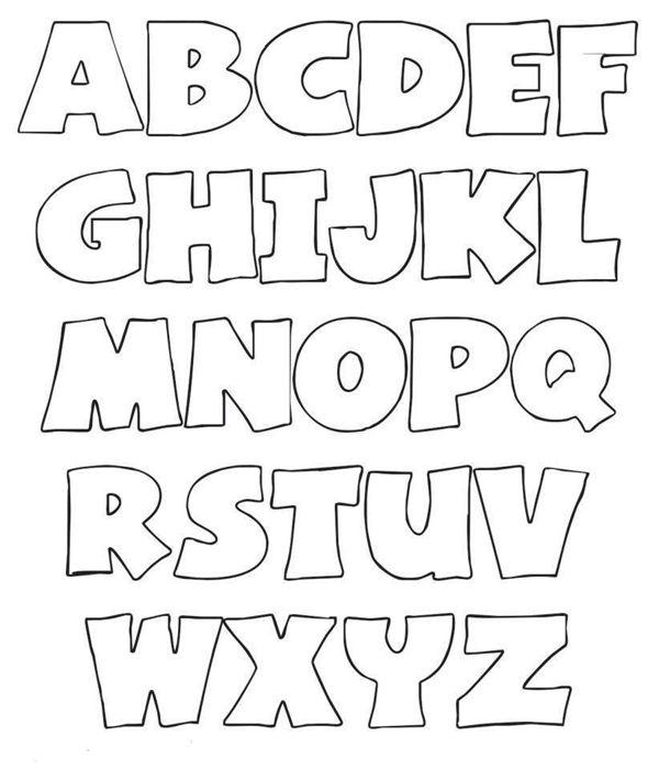 molde de letras forma