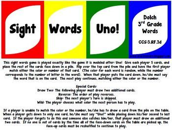 Are you looking for a fun way to practice the third grade Dolch sight words with your class