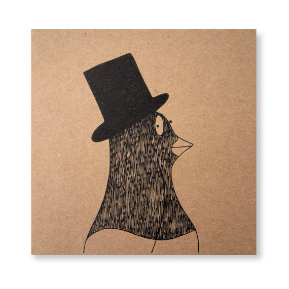 Pigeon with a Monocle Card Illustrated Card by ThatLittleKid