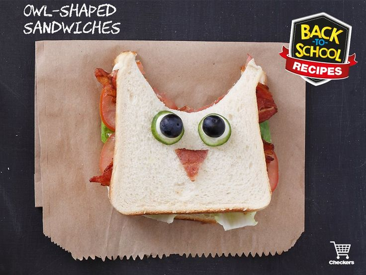 These owl-shaped sandwiches are a hoot and sure to be a huge hit with the kids. Get this creative and fun #BackToSchool recipe here>http://fal.cn/KLG4