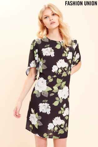 Buy Fashion Union Floral Print Shirt Dress online today at Next: Israel