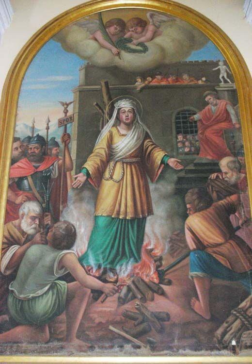 martirio de santa anastasia