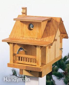 The finished birdhouse