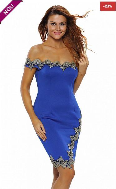 O rochie speciala si provocatoarea care te va scoate in evidenta la evenimentele importante din viata ta.  - detaliile din broderie aurie it...