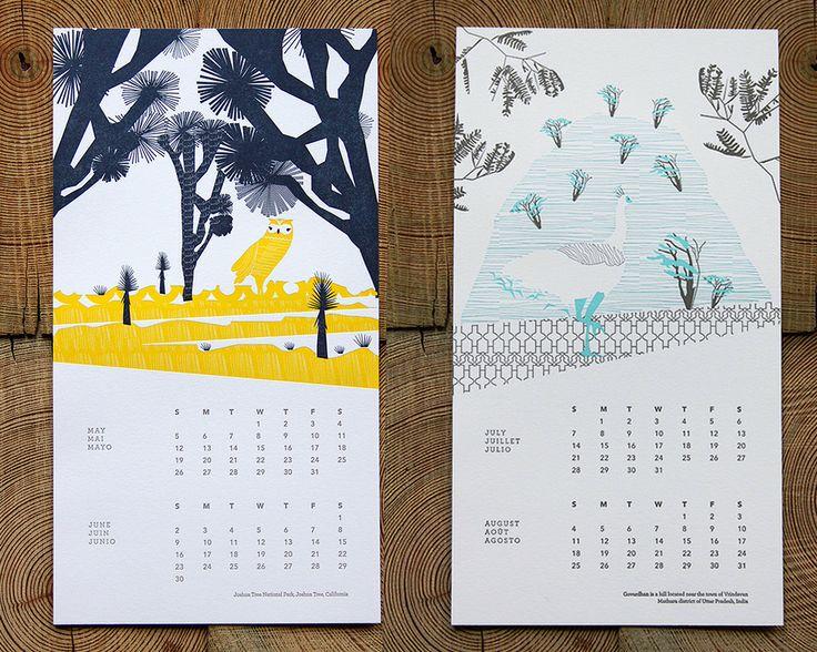 2013 Vortex Letterpress Calendar | Ink + Wit