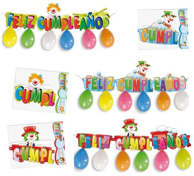 Cosas43, detalles y regalos para los invitados, boda, comunión y bautizo, regalos infantiles Cartel con globos Feliz Cumpleaños [86-1025] - Guirnalda globos para cumpleañosCartel Feliz Cumpleaños, con globosContenido de la bolsa: 1 cartel con 6 globosMedidas cartel: 100 x 28 cm