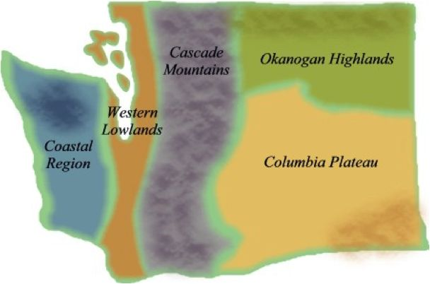 5 regions of washington state  been studying the regions of washington state tonight i d