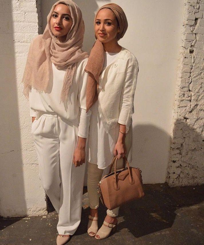 Hijab Fashion 2016/2017: Hijab  Whites  NYFW (Summer Albarcha and Maria Alia)