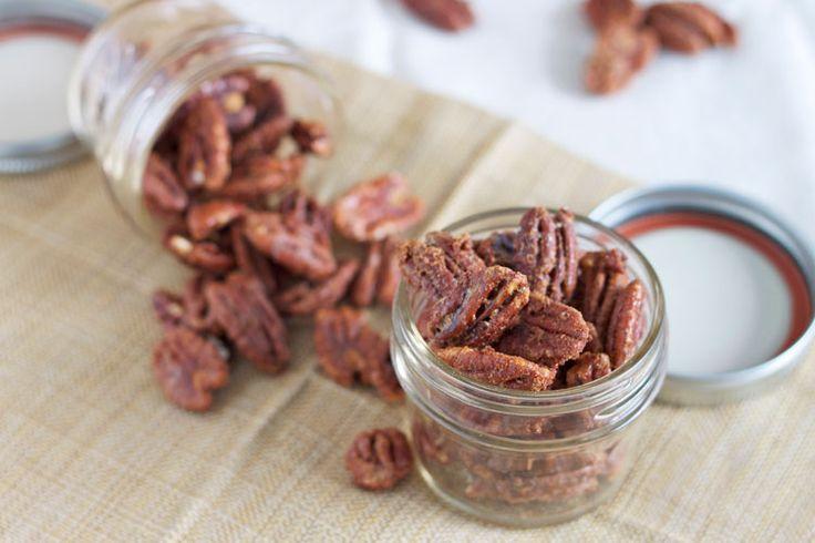 Maple Bourbon Roasted Pecans   Recipe